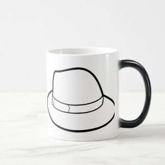 White Hat Color Changing  Hat Belt & Mug
