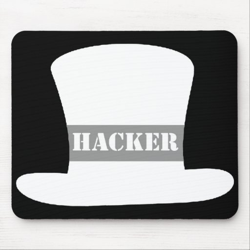 White Hat Hacker Mouse Pad | Zazzle
