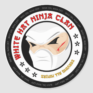 White Hat Ninja Sticker