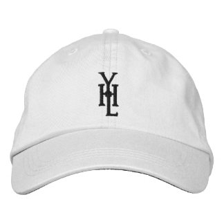 White Hat with Black YHL Logo