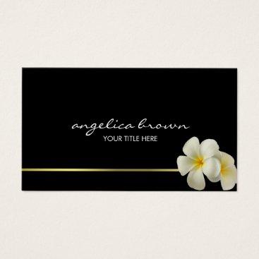 Professional Business White Hawaiian Flowers Business Card
