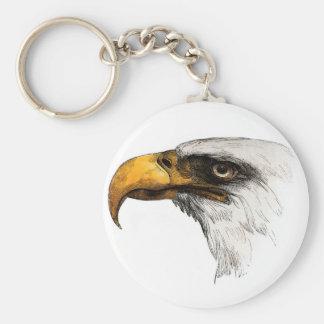 White headed Bald Eagle Keychain