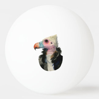 White-Headed Vulture Watercolor Painting Ping-Pong Ball