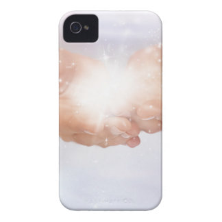 White healing flame energy hands by healing love iPhone 4 cases
