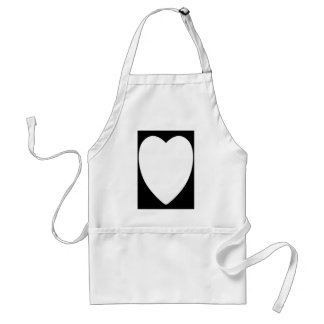 White Heart1 Aprons