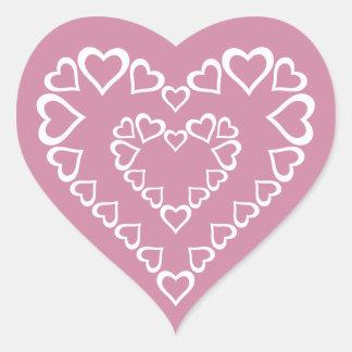 White Heart Hearts Heart Sticker