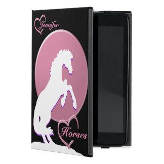 White Heart Horses V (Pink) Covers For iPad Mini
