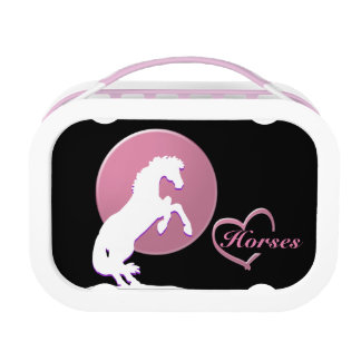 White Heart Horses V (Pink) Lunch Box