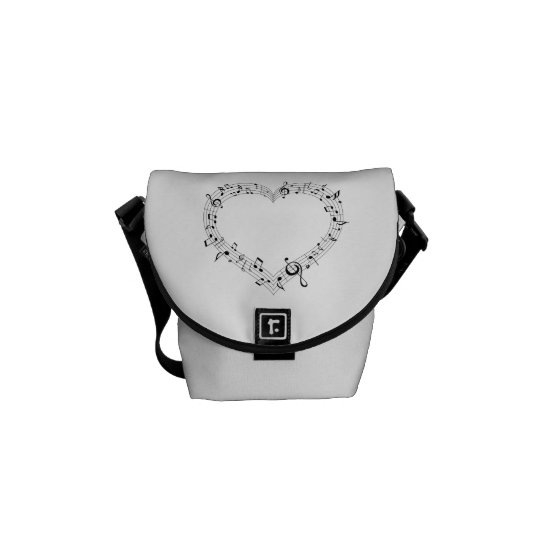 White Heart of Music Mini Messenger bag