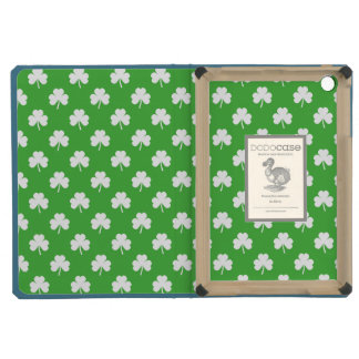 White Heart-Shaped Clover on Green St. Patrick's iPad Mini Covers