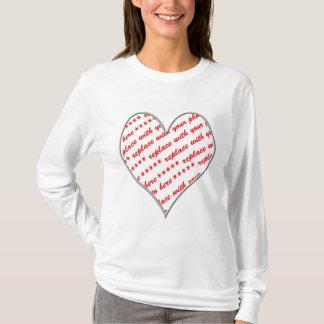 White Heart Shaped Photo Frame T-Shirt