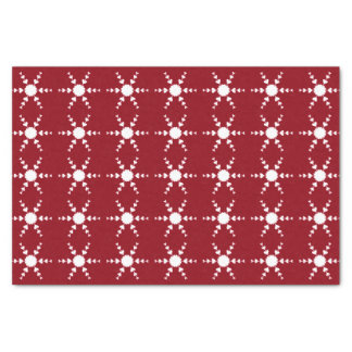 White Heart Snowflakes Red Christmas Tissue Paper