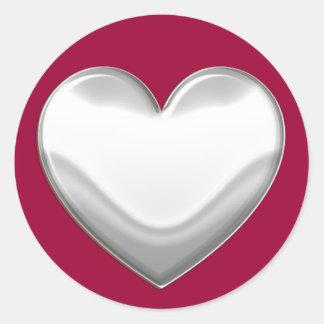 White Heart Stickers