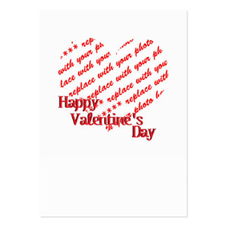 White Heart Valentine's Day Photo Frame Business Cards