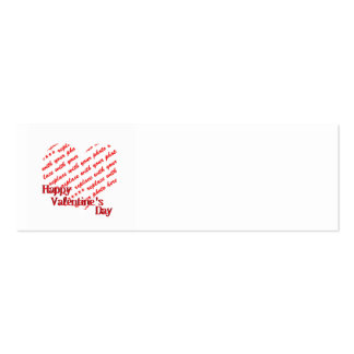 White Heart Valentine's Day Photo Frame Business Card Template