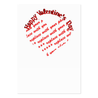 White Heart Valentine's Day Photo Frame Business Card