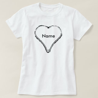 White heart waiting for a name T-Shirt