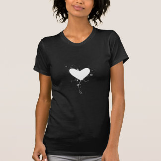 White heart with decals - Cool T-Shirt