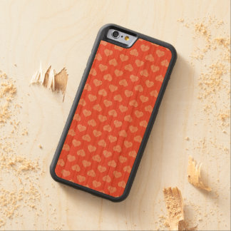 White Hearts Coral Pattern Carved® Cherry iPhone 6 Bumper