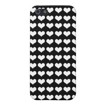 white hearts pern protection iPhone SE/5/5s cover