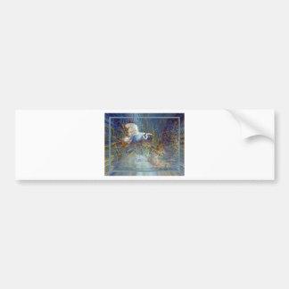 white heron bumper sticker
