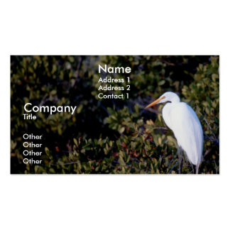White Heron Business Card