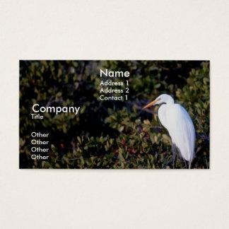 White Heron Business Card