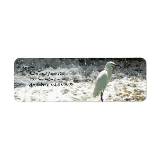 White Heron Label