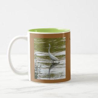 White Heron Mug