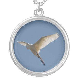 White Heron Necklace