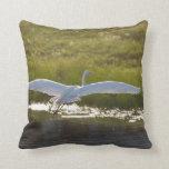 White Heron Pillow