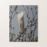 White Heron Roosting Puzzle