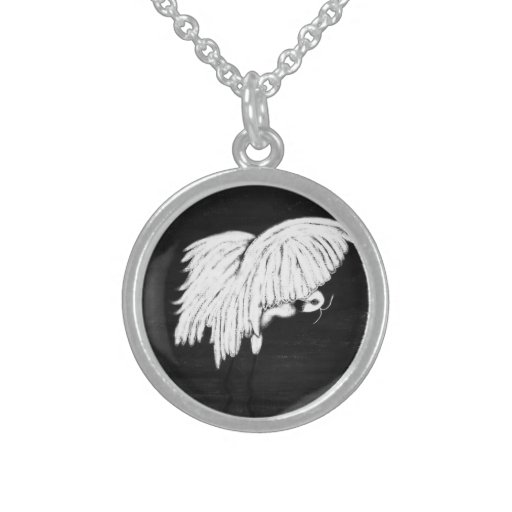 WHITE HERON - STERLING SILVER NECKLACE