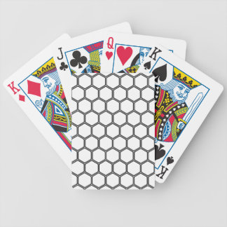 White Hexagon 3 Bicycle Playing Cards