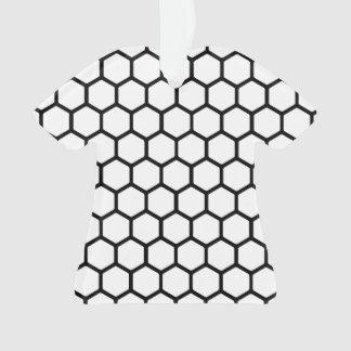 White Hexagon 4 Ornament