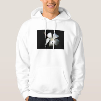 White hibiscus against black.jpg hoodie