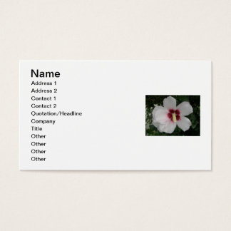 White Hibiscus Business Card