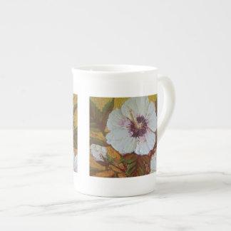 White Hibiscus China Mug