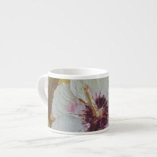 White Hibiscus Espresso Mug