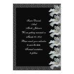 "White Hibiscus Flower Black Wedding Save The Date 5"" X 7"" Invitation Card"