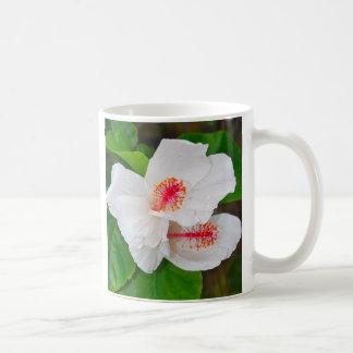 White Hibiscus from Hawaii Coffee Mug