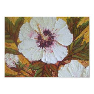 White Hibiscus Invitation