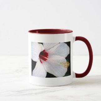 White Hibiscus Mug