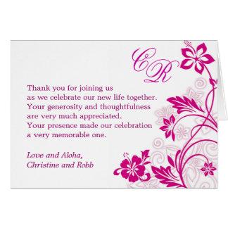 white hibiscus swirls ~ thank you card