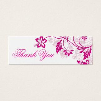 white hibiscus swirls ~ thank you tag