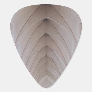 white high ceiling pillar dome guitar pick