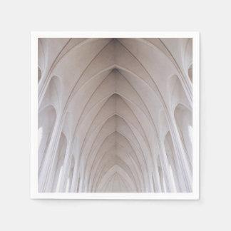 white high ceiling pillar dome standard cocktail napkin