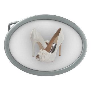 White High Heels Belt Buckles