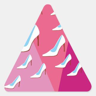 White High Heels & Pink Triangle Sticker