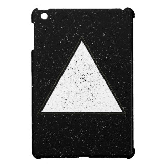 White hipster space triangle black background iPad mini cases